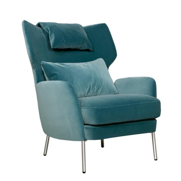 ALEX armchair headrest lario1406 turquoise 2 e1603270941406