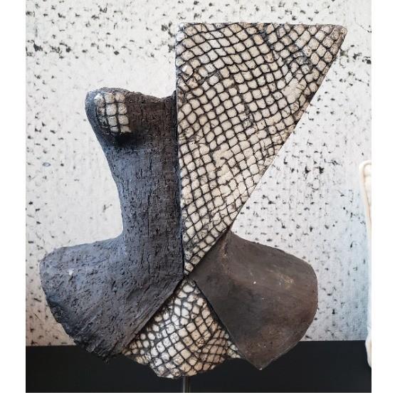 Sculpture Corset sur pied Raku Jean Paul Gauthier (2)